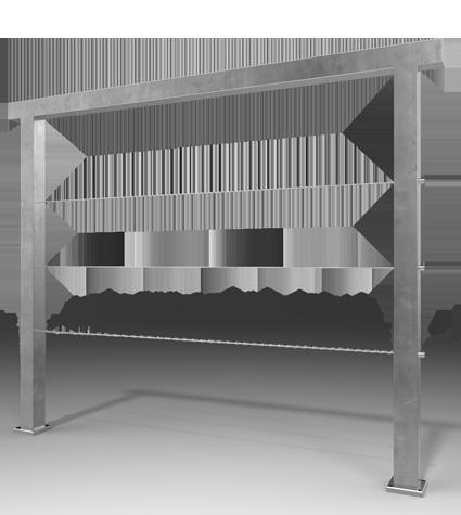 Barandal con postes en solera